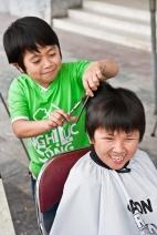 Jugando a peluqueros, Ho Chi Minh City, Vietnam
