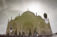 Reflejo del Taj Mahal, Agra, India