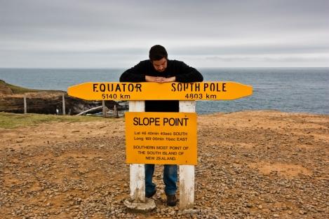 Slope Point, el punto más meriodional de Nueva Zelanda