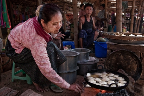 Mercado Lago Inle, Myanmar