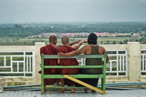 Pagoda Soon Oo Ponya Shin, cerca de Sagain, Myanmar