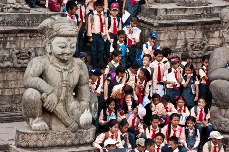 Bhaktapur, en el Valle de Kathmandu, Nepal