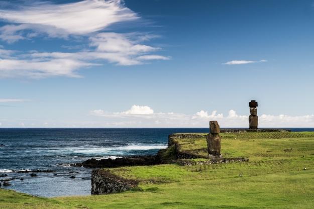 Isla de Pascua moais Tahai