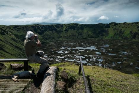 Volcán Rano Kau Isla de Pascua