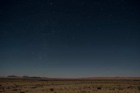 Noche desierto del Namib