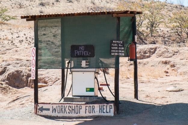 Gasolinera, Namibia