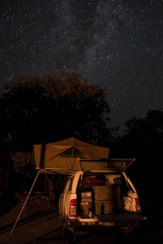 Ongongo camping, rooftop tent