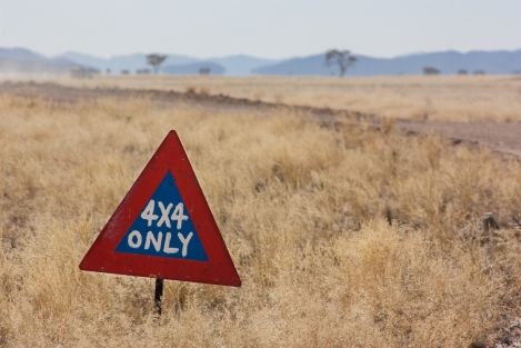 4x4 only, Namibia