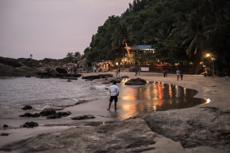 Namaste cafe, Om beach, Gokarna, India