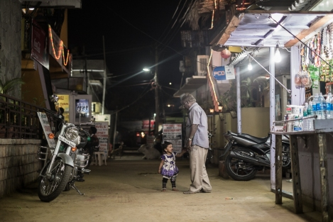 Calle en Hampi, India