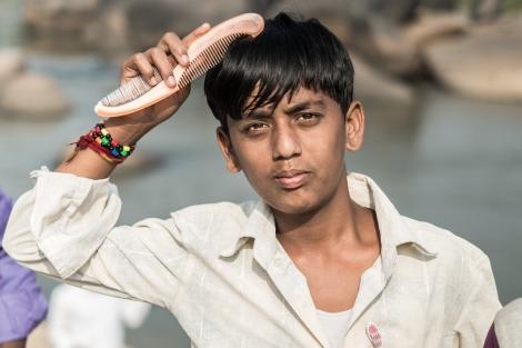 Peluquería Hampi, India