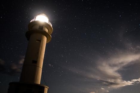 Far de Barbaria, noche, Formentera