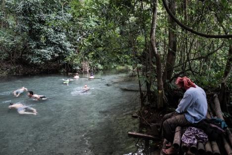 Aguas termales en el valle de Pai