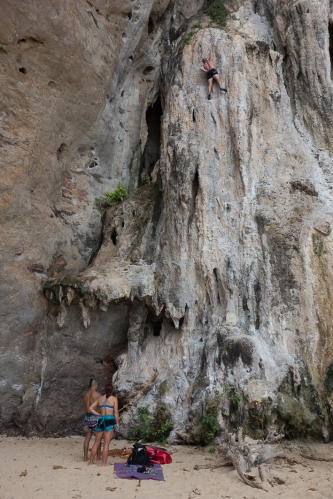 Escalando en Railay