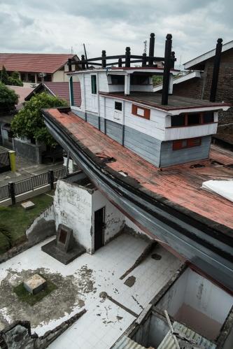 Barco en Banda Aceh