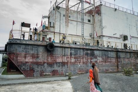 Barco varado en Banda Aceh