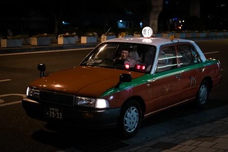Taxi en Naha, Okinawa, Japón