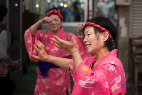 Desfile en el centro de Naha, Okinawa