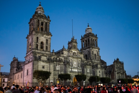 La Catedral en El Zócalo de Ciudad de México