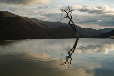 Reflejo en Hierve el Agua