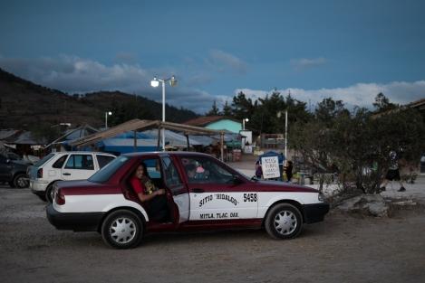 Taxi en Hierve el Agua