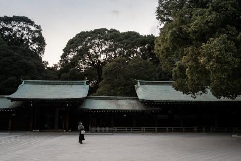 patio del templo Meiji