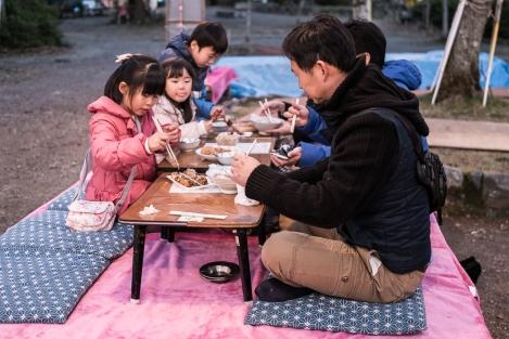 Familia cenando Kyoto