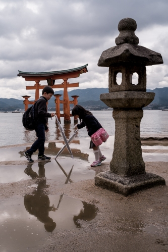 Torii en Miyajima, Utsukushima