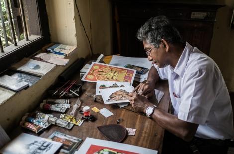 Artista en Sigiriya