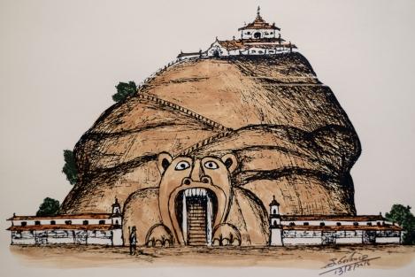 Ilustración de la Roca del León