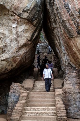 Escaleras de Sigiriya
