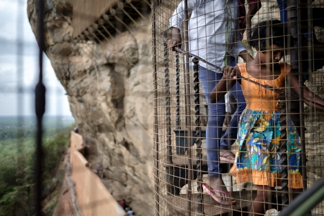 Escalera en Sigiriya