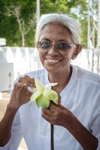 Retrato en Anuradhapura