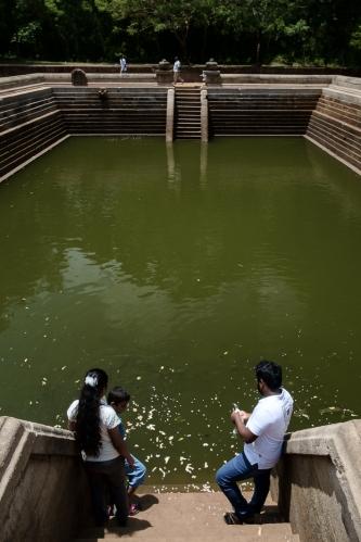Tanque de agua en Anuradhapura