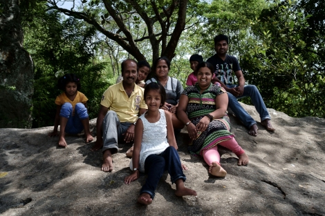 Familia en Sri Lanka
