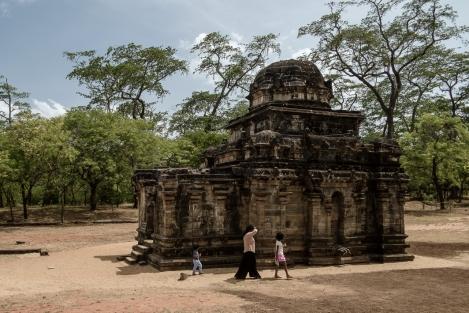 Antiguo edificio en Polonnaruwa