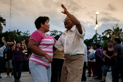 Bailando en el zócalo