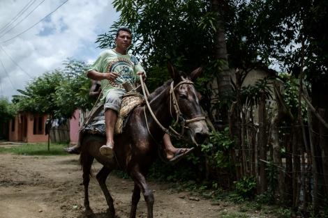 A caballo en Palenque, Colombia