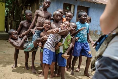 Niños en Palenque, Colombia