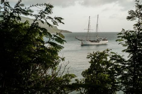 Pirata, barco en Providencia, Colombia