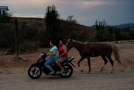 Moto y caballo